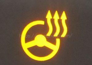 ハンドルヒーターのインジケーター点灯時の画像