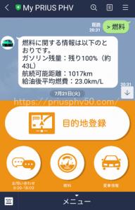 渋滞の時のプリウスPHV52の燃費